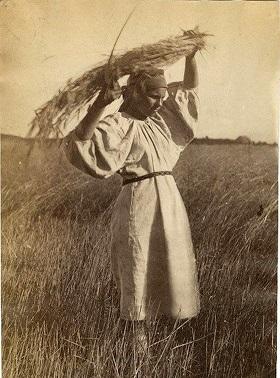 Les filles ont seme du lin